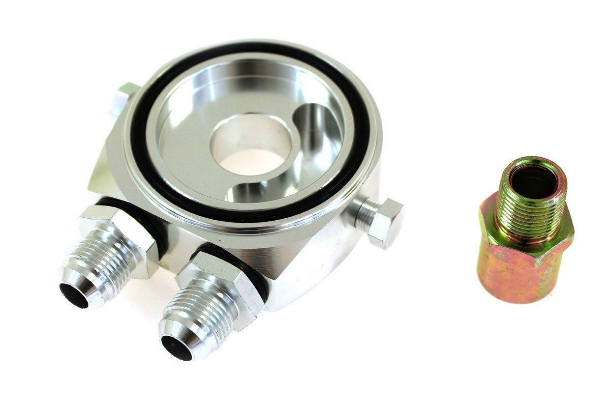 Podstawka pod filtr oleju TurboWorks Silver AN8 - GRUBYGARAGE - Sklep Tuningowy